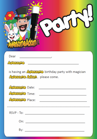 Awesome Adam Party Invite